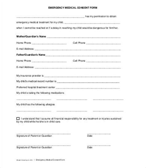 photo release consent form template consent form 9 free pdf word documents
