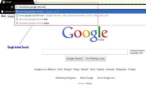 Instant Search Instant Search And Chrome With 4 Search Engine