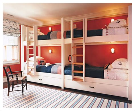 bunk room ideas four kids one room bunk beds decoholic