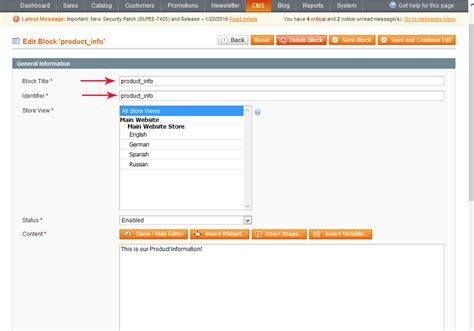 layout update xml static block magento how to add static block to individual products
