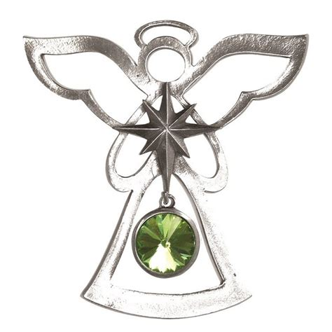 salisbury august birthstone angel ornament peridot
