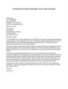 Cover Letter For Construction Management by Construction Management Cover Letter Sle Source