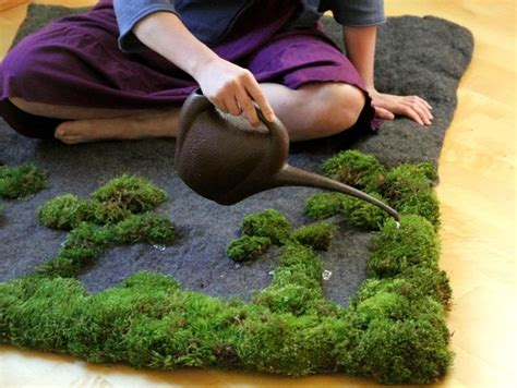 Moss Shower Rug by Growing Moss On Your Rug