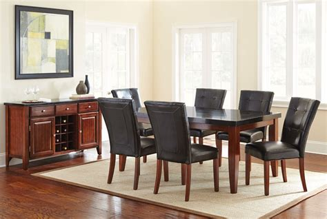 Black Granite Top Dining Table Bello Transitional Black Granite Top Dining Table With Cherry Finish