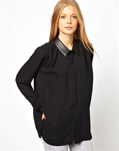 Black Sheer Blouse by Black Blouse With Collar Blouse Styles