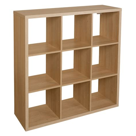 regal 3x3 form mixxit oak effect 9 cube shelving unit h 1080mm w