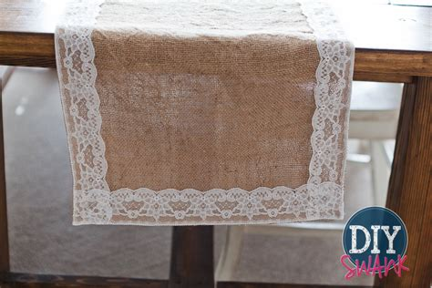 diy burlap and lace table runner tutorial diy swank