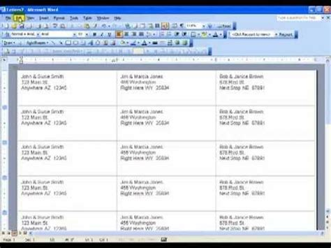 how to create microsoft word labels youtube