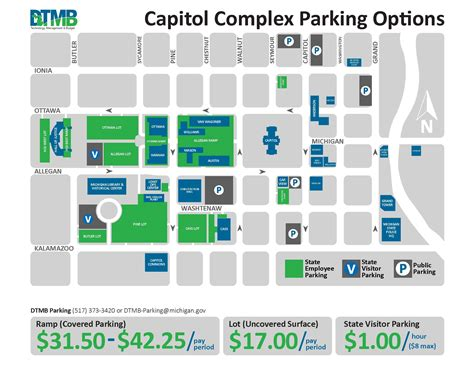 Msu Parking Office by Map Of Downtown Lansing Swimnova