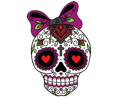 imagenes de calaveras halloween dibujo de calavera enamorada pintado por keilychave en