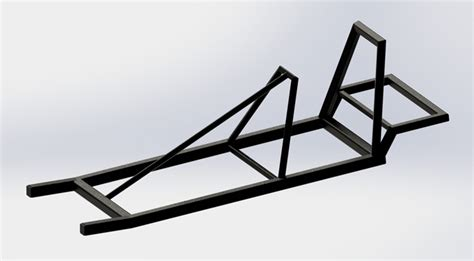 frame design solidworks go kart frame solidworks 3d cad model grabcad