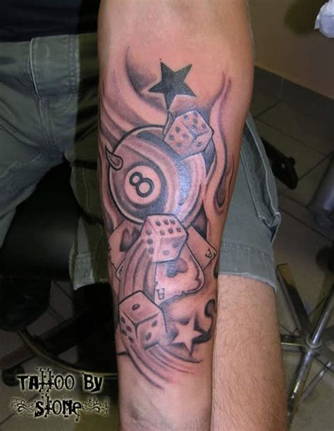 eight ball tattoo designs black 8 dice design tattoos book 65
