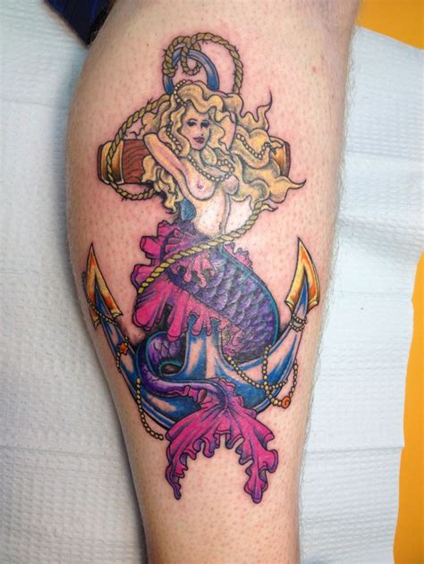 mermaid anchor tattoo anchor mermaid pictures to pin on