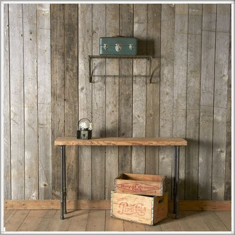 reclaimed wood vs new wood industrial console table reclaimed wood furniture