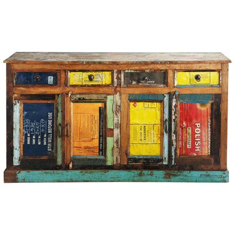 credenze maison du monde credenza multicolore in legno riciclato l 165 cm r 233 cup