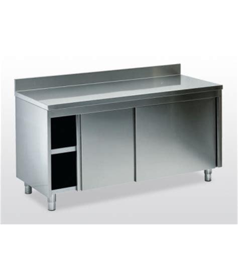 tavoli inox professionali tavoli da lavoro armadiati inox arredamento inox