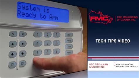 dsc alarm trouble light reset tech tips video how to acknowledge a trouble on a dsc