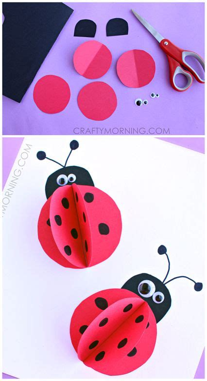 How To Make A Ladybug Out Of Paper - 3d paper ladybug craft for summer for and 3d