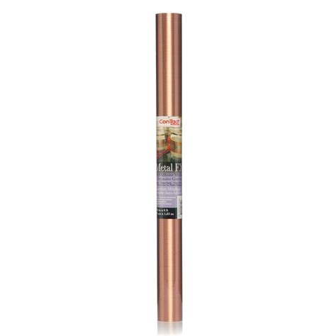Shelf Liner Paper Home Depot by Con Tact Creative Covering Brushed Copper Adhesive Shelf