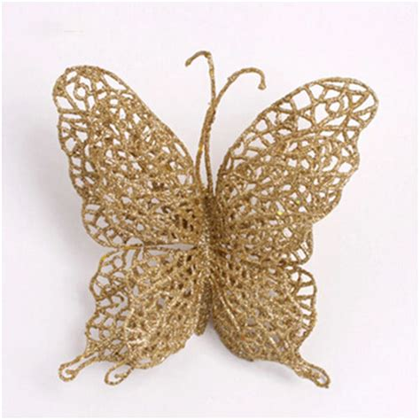 xmas decor christmas tree decoration hollow butterfly