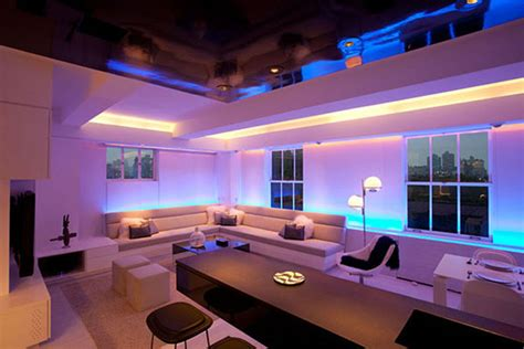 luxury apartment interior design with modern led mood