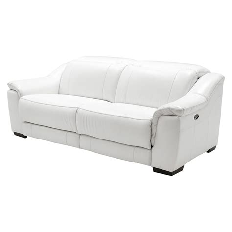 Davis White Power Motion Leather Sofa El Dorado Furniture White Recliner Sofa