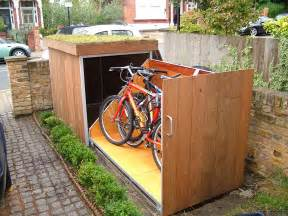Bicycle Shed Placing Outdoor Bike Storage Shed In Garden Landscape