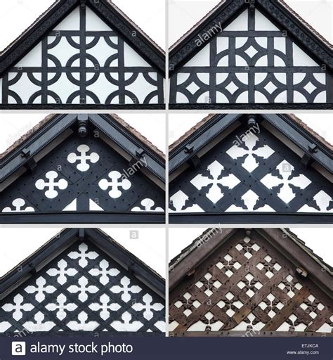 decorative gable ends of tudor houses in chester