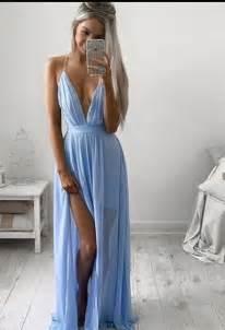 formal dress simple chiffon long prom dressa