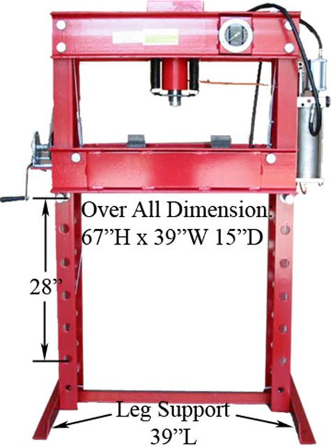 1 Ton Hydraulic Floor Press by 45 Ton Air Hydraulic Floor Shop Press W 1 Yr Warranty Ebay