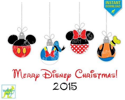 printable mickey mouse ornaments christmas decorations disney 2015 holliday decorations