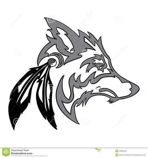 tribal wolf tattoos tribal wolf design