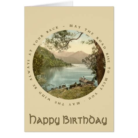 All 4 One Gift Card Ireland - lake in kerry ireland vintage happy birthday card zazzle com