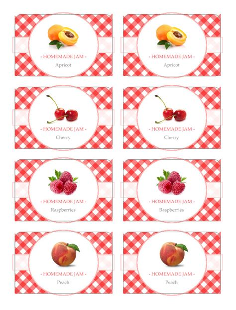 Free Jam Label Templates jam label template free