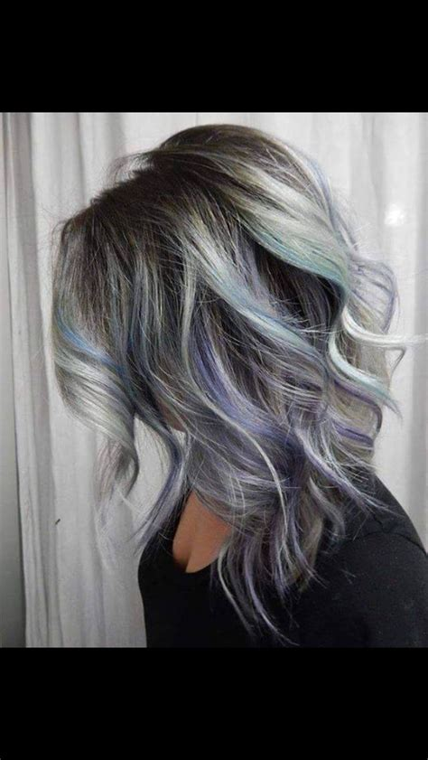 grey roots on highlighted hair dark and gray roots hair coloring 1000 ideas about