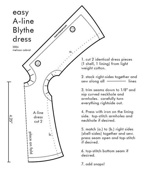 pattern for a line dress free blythe a line dress pattern sewing pinterest