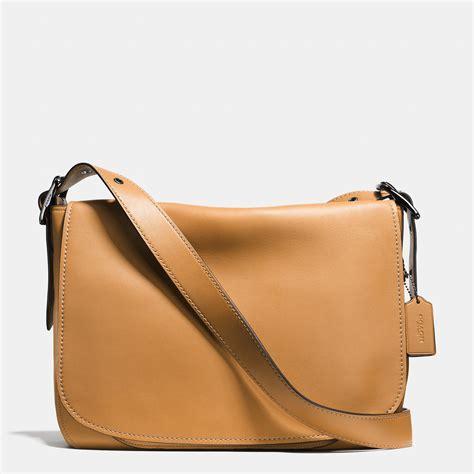 Tas Selempang Coach Original Leather Crossbody Black coach saddle bag messenger 38 in glovetanned leather in brown saddle black lyst