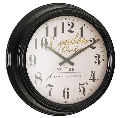 deep extra large wall clock ridgeway london clock company black deep case 50cm extra large