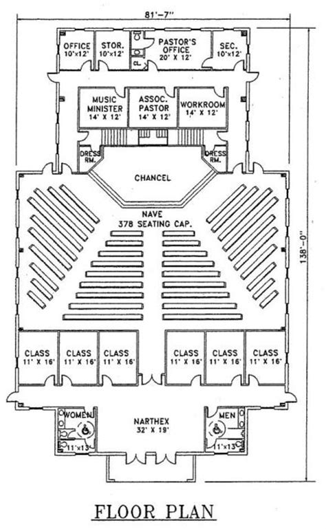 metal church building floor plans church plan 113 lth steel structures