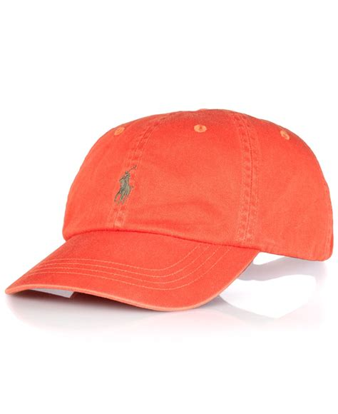 Terbaru Topi Baseball Polos Cotton Twill polo ralph polo big and classic chino twill baseball cap in orange for lyst