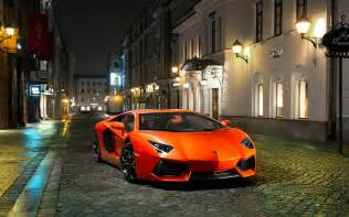 lamborghini aventador in the city wallpapers and images