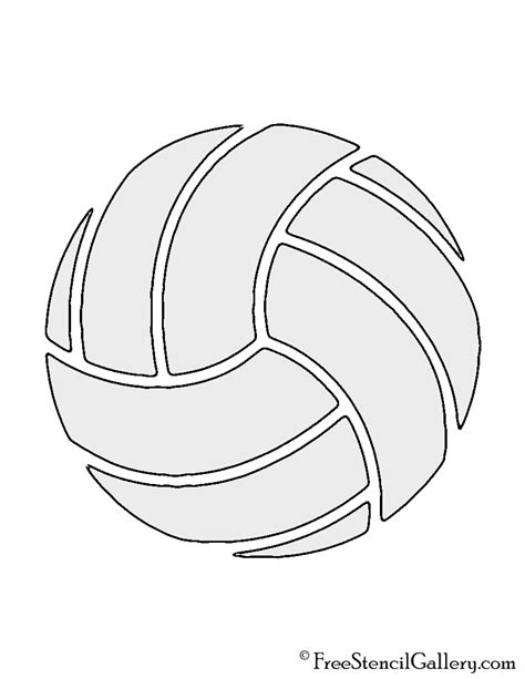 free printable volleyball pictures volleyball stencil free stencil gallery