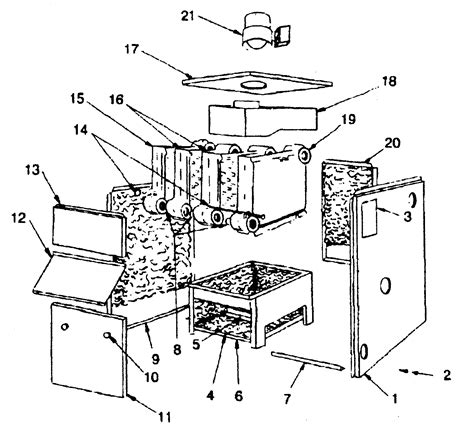 boiler parts diagram cabinet parts diagram parts list for model 15096hwd