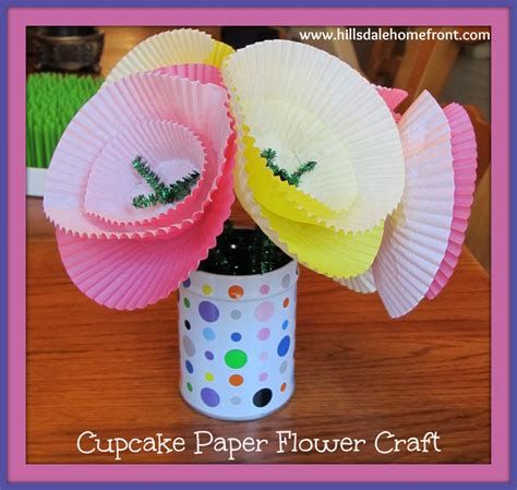Paper Flower Craft For - cupcake paper flower craft for