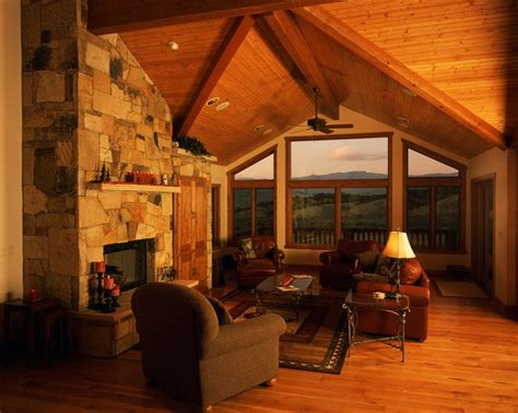 Tongue And Groove Fireplace by Tongue And Groove Pine Vaulted Ceiling Gas Fireplace