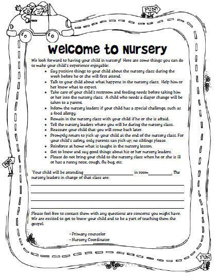 nursery lessons for church