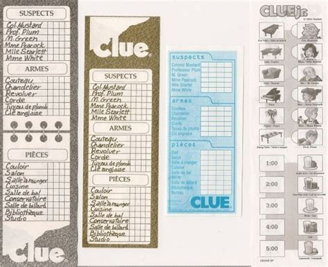 clue score cards template search results for clue board template sheets