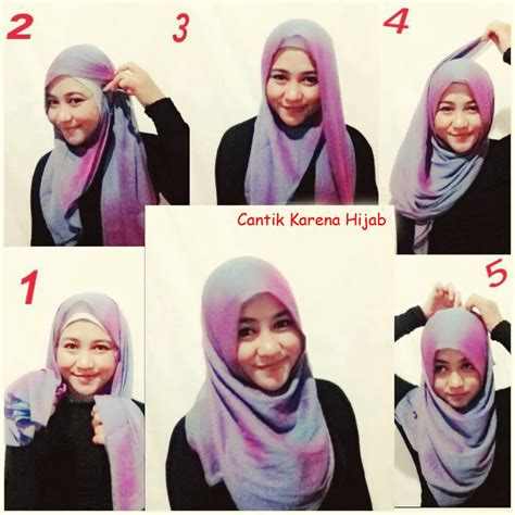 Jilbab Segi Empat Gambar Cara Memakai Jilbab Segi Empat Modern Dengan Mudah Untuk