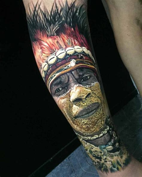 hyperrealistic tattoo portrait of indian best tattoo