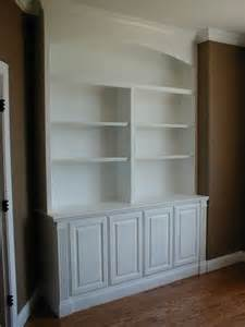 Built In Bookshelves With Cabinet Below Custom Made Built In Bookcase And Cabinets By Norm S